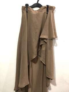 Khaki Hi-Low Skirt