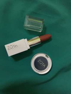Zoya Cosmetics blush on & lipstick