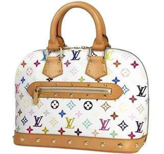 Authentic Louis vuitton multicolor Alma monogram PM size