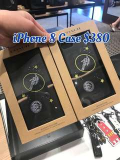 Coach IPhone 8 Phone Case Black Blue 電話殼