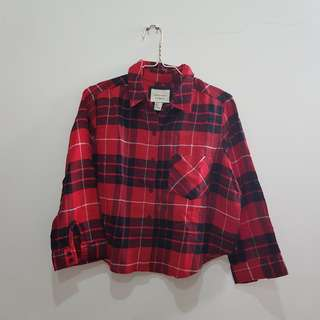 F21 Crop Flannel