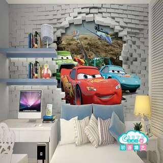 3D Wallpaper Customized design for kids room