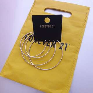 F21 hoop earrings