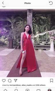 FOR RENT: Red Evening Gown with Slit