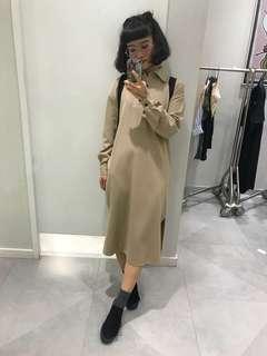 🚚 Vii&co 米色襯衫洋裝 H&M 韓國 forever21