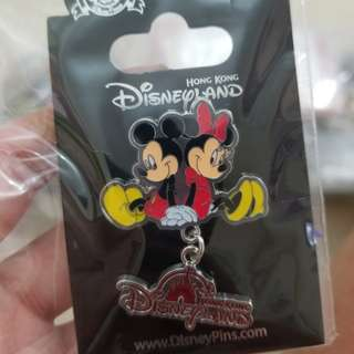 Mickey Minnie Disney Pin 米奇米妮迪士尼徽章