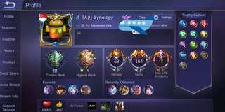 Mobile Legends Special Account with MLBB Glory Avatar Border