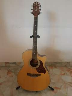 Crafter Electro-Acoustic Guitar w/bag and accessories