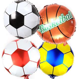 Sports basketball soccer party supplies - balloons / party deco