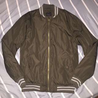 ZARA MAN Quilted Bomber Jacket