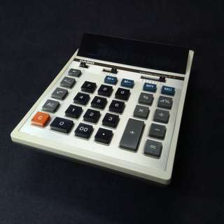 Casio electronic calculator of the late 1970s - a collector's item