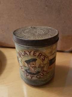 Vintage Players Navy cut empty tin