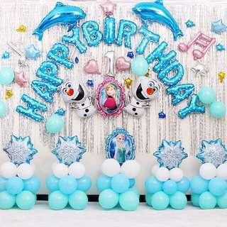 🚚 Frozen Happy Birthday Balloons whole set