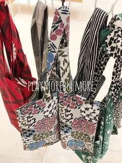 最後一個👀日本限定圖案-tote bag 花花布袋 Marimekko