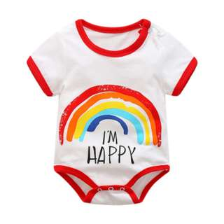 Happy Rainbow Cute Basic Romper