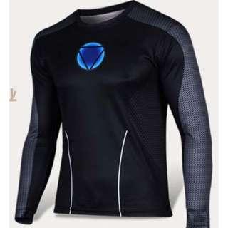 Iron Man superhero compression tights long sleeve