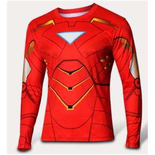 Iron Man Mark 6 superhero compression tights long sleeve