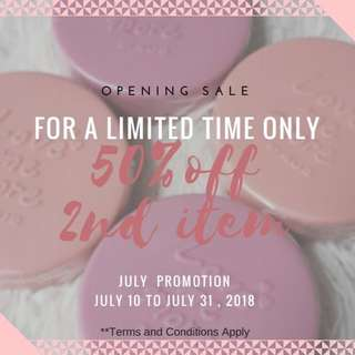 Half price for second product