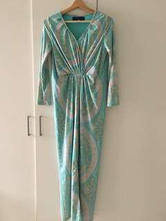 MIMPIKITA ALTHEA KNOT DRESS IN TURQUOISE