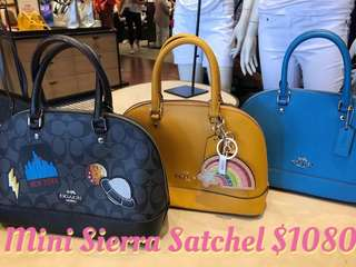 Coach Mini Sierra Satchel Tote Bag Blue Tangerine Black Lightening Moon UFO 🛸 New York Tote bag 黑色橙色藍色紐約飛碟月球彩虹手挽袋手袋
