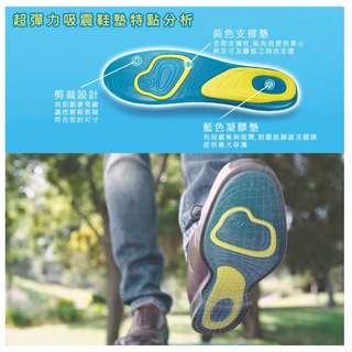 🚚 彈力吸震健康鞋墊