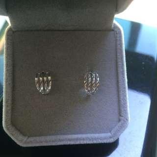 鉑金雕花耳環(TSL 謝瑞麟)earrings