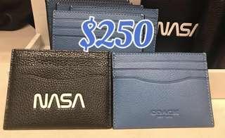 Coach Men's Green Black Navy Blue Card Holder Card Case Denim 男裝卡包證件套卡片套八達通套太空人美國航空太空署黑色藍色綠色