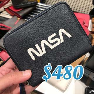 Coach Black NASA Small Zip Around Wallet 黑色短銀包男裝女裝