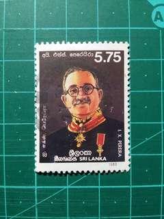 [贈品]1988 斯里蘭卡 著名政治家百週年誕辰紀念 舊票一套