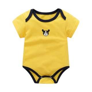 Cute Yellow Boxer Dog Puppy Animal Basic Baby Romper