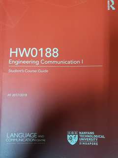 NTU HW0188 Engineering Communication 1 textbook