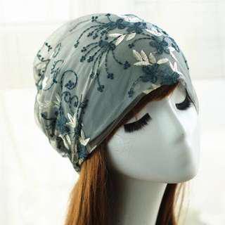 [Pre-order] Embroidery Beanie for Ladies | Turban Hat Cap Tudung Muslim