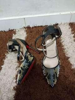 Christian Louboutin spikey heels