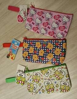 Sanrio Hello Kitty Winnie The Pooh Kerokerokeroppi Pouch