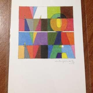 紐約當代藝術館帶回 明信片 MoMA 館藏畫作 LOGO Naoki Yoshimoto 吉本直貴