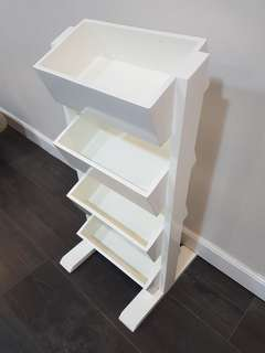 White wood furniture side stand