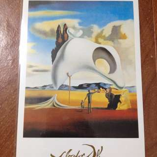 巴黎帶回 明信片 Salvador Dalí 達利 Dali Vestiges atavignes aprés la pluie Espace Dalí達利蒙馬特空間