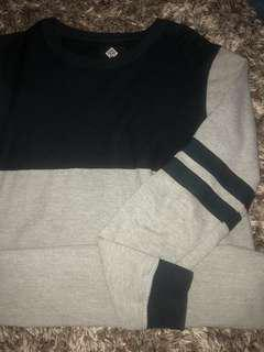 Navy blue Varsity Crewneck sweater