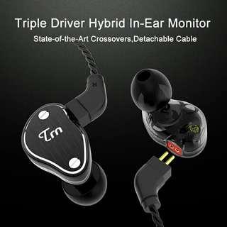 2018 Newest TRN V60 In Earphone 2BA+1DD Dual Hybrid Earphone 0.75mm 2pin HIFI Earphone Super Bass Wired/ Bluetooth Earphones
