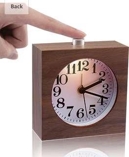 Ecvision handmade wooden alarm clock