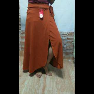 REPRICED! LONG SKIRT WITH SLIT AND RIBBON