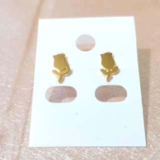 Stainless Rose Earrings