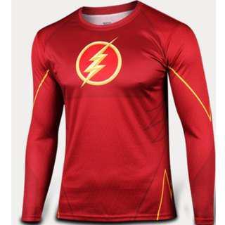 Flash superhero compression tights long sleeve