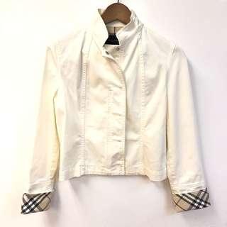 Burberry white jacket size UK 10