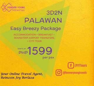3D2N EASY BREEZY PUERTO PRINCESA PALAWAN TOUR PACKAGE