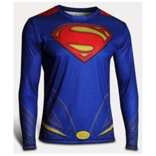 Superman superhero compression tights long sleeve
