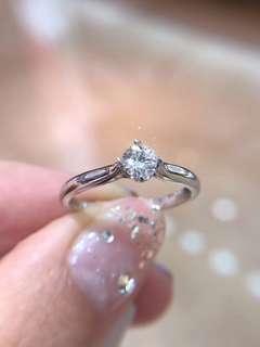 經典婚戒大優惠💎30分GIA證書鑽石18k白金戒指💍求婚戒指訂婚戒指女朋友生日禮物