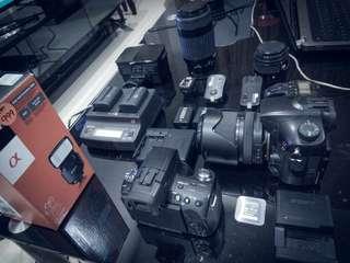 Sony a77 & sony a55 camera