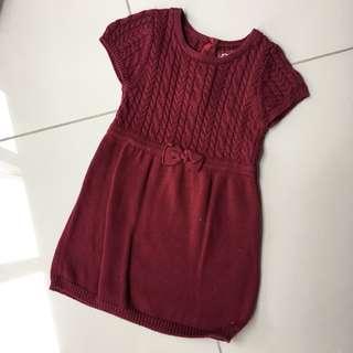 Primark Maroon Knitted girl dress