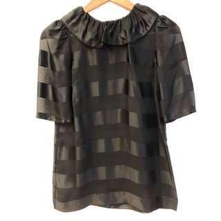 模間黑色上衣 Marc by Marc Jacobs black silk top size 0